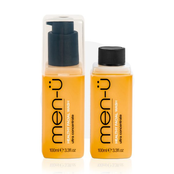 men-u Healthy Facial Wash refill kit face cleansing set