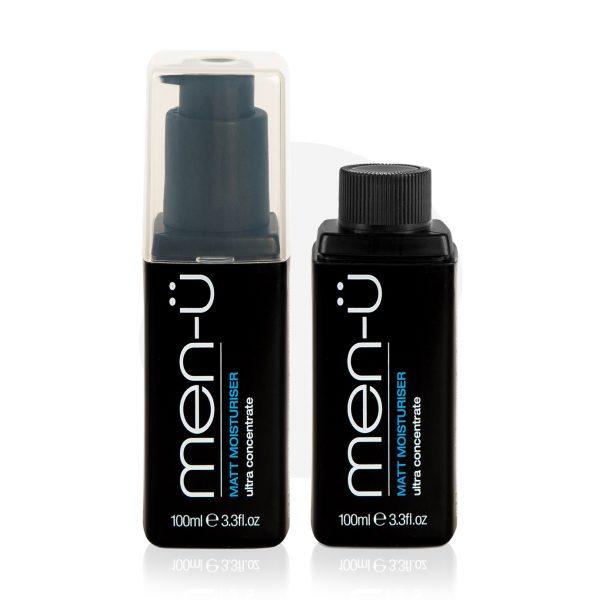 men-u Matt Moisturiser refill kit facial moisturising set